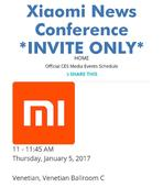 Xiaomi will introduce a new product at the CES 2017 on January 5