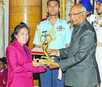 President Ram Nath Kovind confers National Sports and Adventure awards