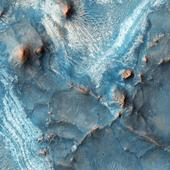 Where red Mars looks blue