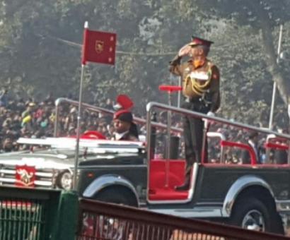 Republic Day parade rehearsal gets underway