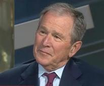 George W Bush breaks silence to attack Donald Trump's war on the media