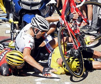 PHOTOS: It's crazy, chaotic at Tour de France!