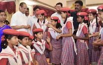 Children make a beeline to Raj Bhavan on Raksha Bandhan