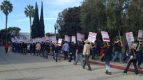 More Than 100 SAG-AFTRA Videogame Strike Supporters Rally at Electronic Arts