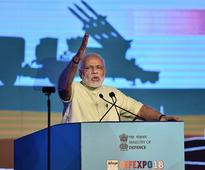 Modi claims 'humble beginning' in building defence industry, slams UPA rule