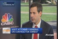 Justice Dept. on NSA arrest