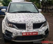Tata Hexa Spotted Again; This Time in Lower Trim Level