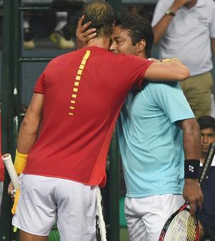 Nadal showers praises on veteran Paes