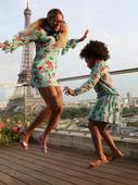 Ladies in Paris: Beyonce & Blue Ivy Are Twinning