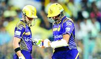 KKR top table after thrilling win
