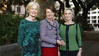Behind great women Dame Quentin Bryce prods and says 'Get in there!'