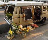 This Actor Selling Flowers Out of His VW Van Couldn't Be More Venice