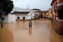 Severe rain causes flooding in southern Spain, one woman dead