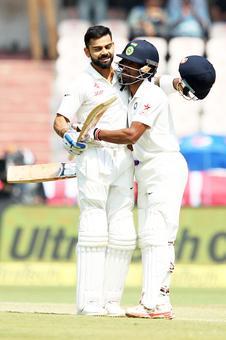 How Saha contributed to Kohli's double century