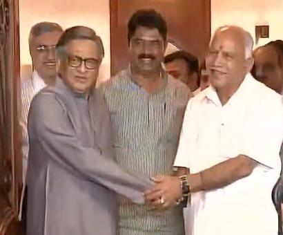 Veteran Cong leader SM Krishna joins BJP