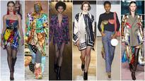Scarf circa 2018: Handkerchief hems and patchwork prints light up Fall Winter 2018 runways