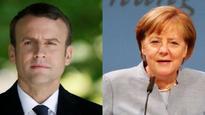 Angela Merkel, Emmanuel Macron meet to plot euro zone reform road map