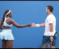 Hingis/Paes v Stephens/Rojer highlights (2R)   Australian Open 2016