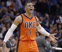 NBA roundup: Russell Westbrook emulates Michael Jordan in Thunder's win; Magic beat Pistons