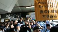 Umbrella movement: Protests in Hong Kong at Beijing visit