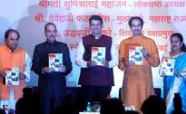 Amid BJP-Sena tussle, Fadnavis and Thackeray share stage during Manohar Joshi's book launch