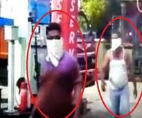 Watch: Unidentified men create ruckus at petrol pump in Ahmedabad