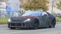 Full-camo Ferrari F12 spied testing in public