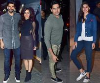 Lovebirds Alia Bhatt and Sidharth Malhotra attend Shraddha Kapoor and Aditya Roy Kapur's OK Jaanu special screening  view HQ pics