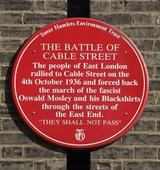 Remembering the Battle of Cable Street
