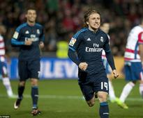 Granada 1-2 Real Madrid: Luka Modric's stunner spares Zinedine Zidane's blushes as side sweat for first away win since November