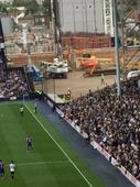 And finally… White Hart Lane construction workers skive to watch Tottenham v Palace