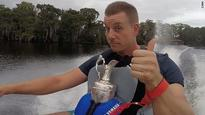 The champ who took his trophy jet-skiing