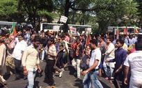 Delhi: BJP protests against Kejriwal over regularisation of unauthorised colonies
