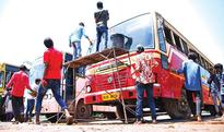 Setting an example, students clean up KSRTC buses in Ernakulam