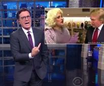 Stephen Colbert digs up 'shocking' video of Donald Trump and Rudy Giuliani in a drag comedy sketch