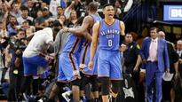Thunder survive wild Game 2 finish to even series with Spurs