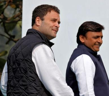 Congress-SP are allies in UP, but not in Amethi