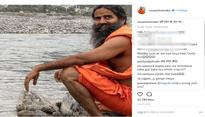 Patanjali founder Baba Ramdev got slammed for wearing 'videshi' Woodland shoes; Netizens advised him to crop the picture properly