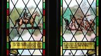 Cathedral window marks wartime sacrifice