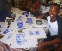 Nyanga artist's pen work is on the ball