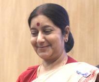 Sushma arrives in Lanka; Tamil rights, fishermen, IT, trade tops agenda