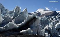 Gangbug Glacier in Shannan Prefecture in SW China
