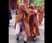 China: Video of Buddhist monks fighting in temple goes viral