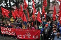 CITU workers in solidarity with Kinnaur stir