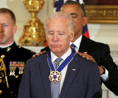 Obama surprises Biden with top honour