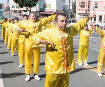 San Francisco: Falun Dafa Group Highlights Columbus Day Parade