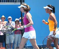 Heather Watson and Johanna Konta team up to book their place in second round of Australian Open doubles