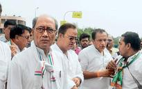 What is Digvijaya Singh's 'apolitical' walkathon by Narmada all about?