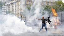 Violent clashes break out in France over labor reforms