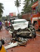 Kasargod: Car-lorry collision, businessman succumbs to injury